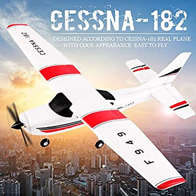 Park10 Toys F949 3Ch RC Airplane Fixed Wing Plane Outdoor Toys with 2.4G Transmitter, Extra Battery and Propeller: Toys & Games