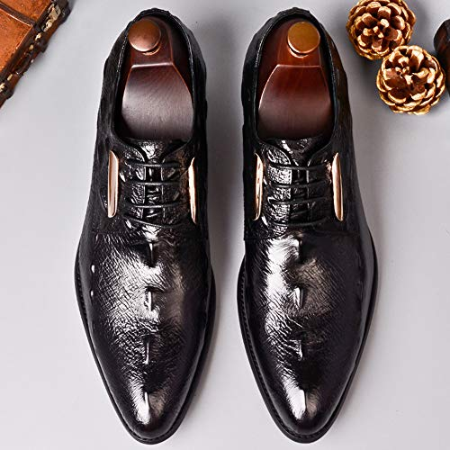 Hombre Cocodrilo De Patrón Black Clásico Zapatos Formal Boda Negocios Cuero Oficina Derby Para Cordones Baile Regalo Puntiagudo Con Zapatos R5wqH0qx