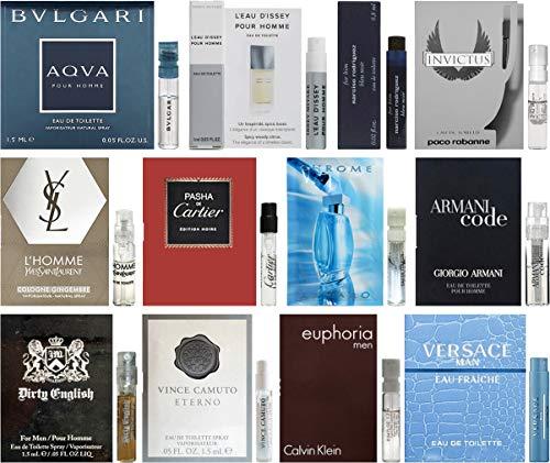 Lot of 12 Vial Samples - Men's Fragrance Cologne (Cool Water For Men Eau De Toilette)