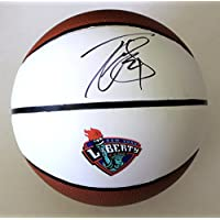 fan products of Tina Charles Signed New York Liberty Full Size Basketball w/COA WNBA - Autographed Basketballs