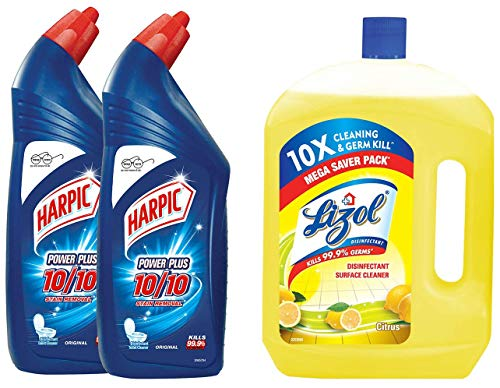 Harpic Original Powerplus - 1 L (Pack of 2) & Disinfectant Floor Cleaner Citrus, 2 L Combo (B07SLC315J) Amazon Price History, Amazon Price Tracker