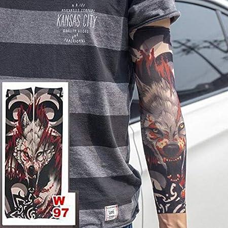 Zhuhuimin 3 unids Estilo de Manga del Tatuaje Caliente Stretch ...
