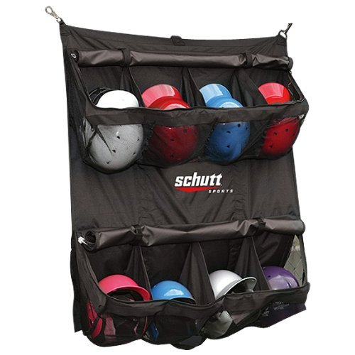 Schutt Hanging Batter's Helmet Bag (Black 55-Lenght x 41-Width-Inch) [並行輸入品] B06XFVXSQX