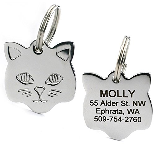 Stainless-Steel-Cat-ID-Tags-Available-in-Mouse-Cat-Shapes-Includes-up-to-4-Lines-of-Engraved-Personalized-Text