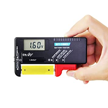 Batterieprüfer 1,5V 9V AA Mignon Micro AAA Tester Universal  BT-168  DE