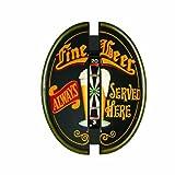 RAM Gameroom Products Dartboard Cabinet, ''Fine Beer - Always Served Here''
