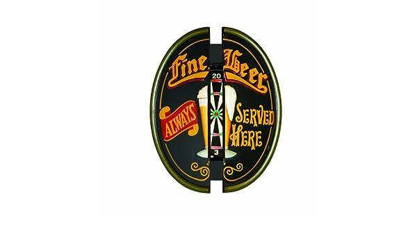 Fine Beer Always Served Here RAM Gameroom Products Dartboard Cabinet