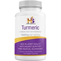 Turmeric with Black Pepper, Natural Nutritional Supplement, 1500 mg Curcumin Bioperine, Antioxidant, Anti-Inflammatory…