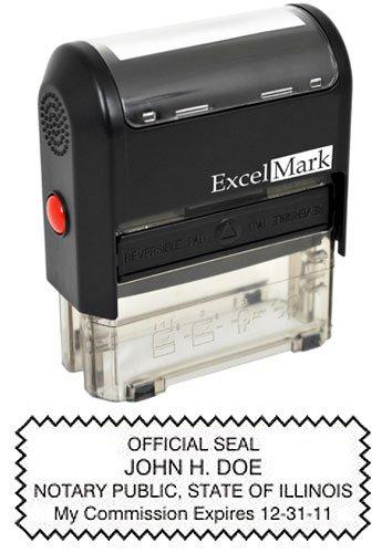 ExcelMark Self Inking Notary Stamp - Illinois
