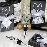 Mikash Wine Bottle STOPPERS Heart Wedding Favors Party Home Decorations Accents Sale | Model WDDNGDCRTN - 2837 | 50 pcs