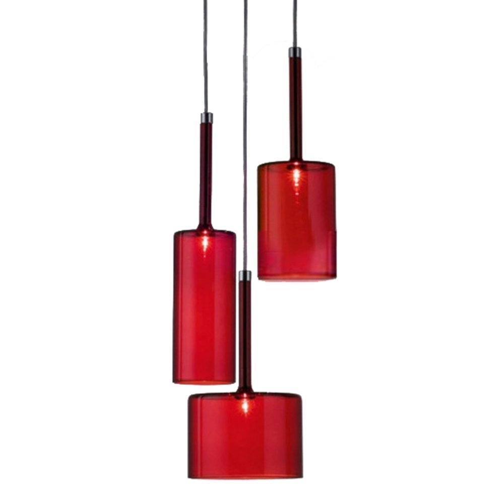 Easygame - lampadario da soffitto moderno lampadario con paralume in vetro, inclusa lampadina G4(B). moderno Grey [Classe di efficienza energetica A+]