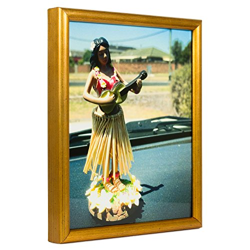 Bullnose Tabletop Picture Frame - Craig Frames Bullnose, Antique Gold Picture Frame, 22 by 28-Inch