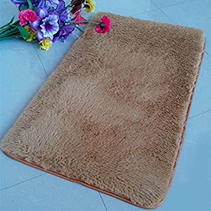 Aiming Tappeto a moquette della camera da letto antiscivolo Tappeto del tappeto antisdrucciolevole della stuoia della stanza da bagno beige 40 * 60cm