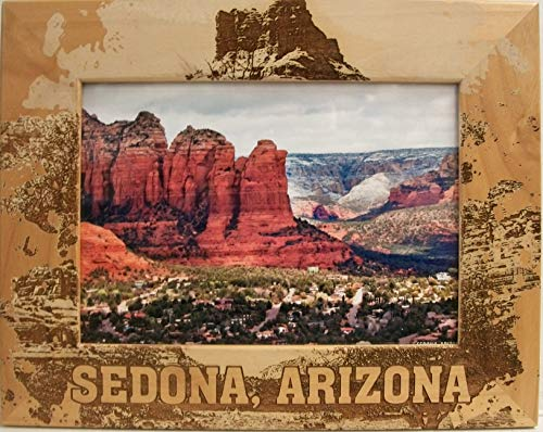Sedona Arizona Laser Engraved Wood Picture Frame (5 x 7) (Laser Saddle)