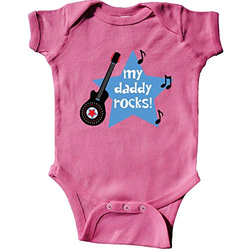 inktastic - My Daddy Rocks Infant Creeper 6 Months Raspberry d5c9