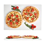 Large Pizza Stone 20x13.5in - Rectangular Stone for Baking & Cooking Pizzas & Bread in Oven, Grill or BBQ - Flat Ceramic Pan Cooks Pizza Evenly & Gives Crispy Crust