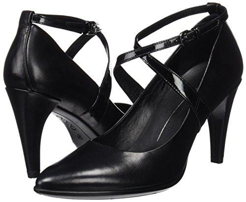 Con black black Scarpe Donna Pointy Ecco Tacco Shape Nero 75 qIO11U