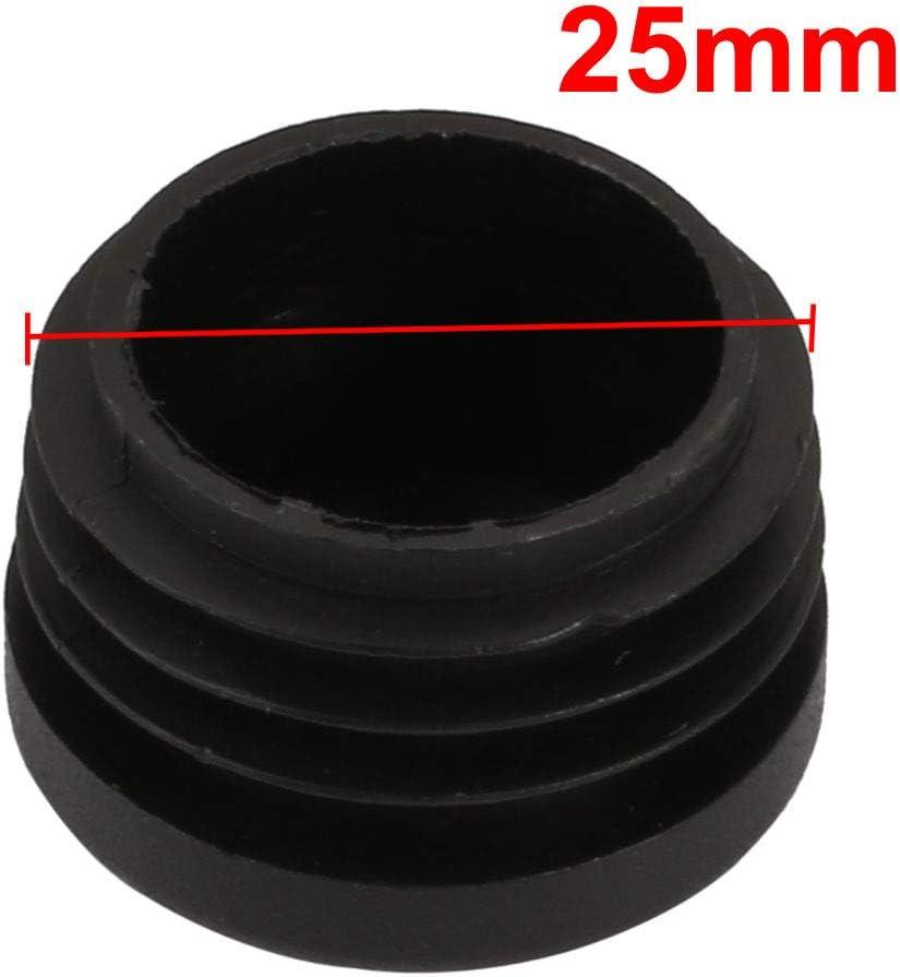 sourcing map 20Stk Stuhl Tischbein Kunststoff Rund Rohr Einsatz Passen 25mm Au/ßen-Durchm de