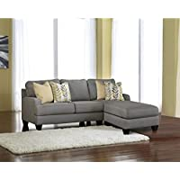 Signature Design by Ashley Furniture Chamberly 2 Piece Sectional Sofa in Alloy