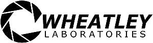 "Bargain Max Decals - Aperture Science Wheatley Laboratories Portal Logo Sticker Decal Notebook Car Laptop 8"" (Black)"