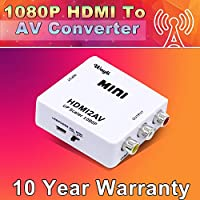 Wayli 1080p HDMI to Rca Converter HDMI2AV Composite