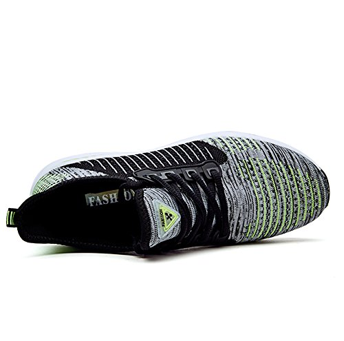 up Green Flyknit Grey Lace No Women's Town 66 Lover Athletic Sneakers Flat Running Men's Shoes qRYAq