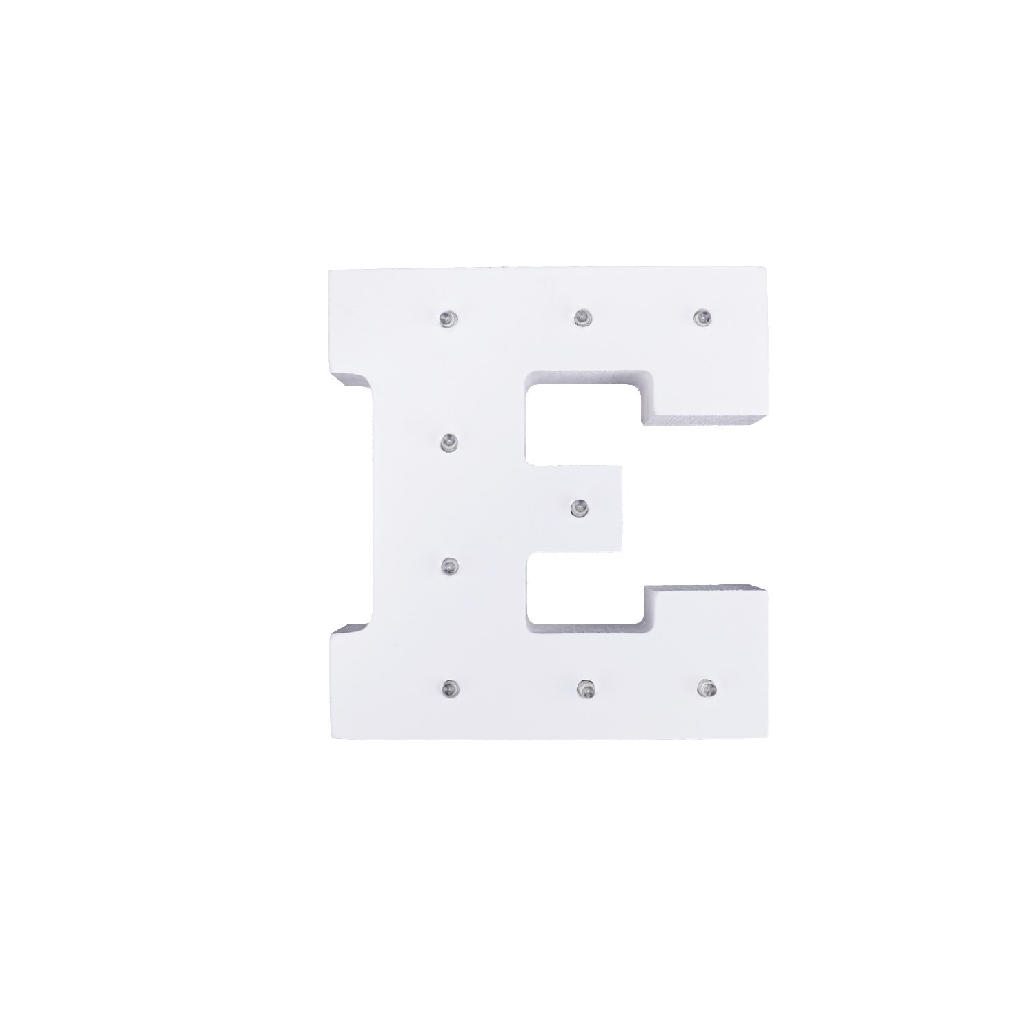 Dulcklane Decorative DIY LED Letter Lights Sign,Light Up Wooden Alphabet Letter Battery Operated Party Wedding Marquee Décor Letter H Specialty & Decorative Lighting Home & Kitchen