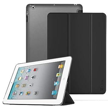Fintie Funda para iPad 4/3 / 2 - Trasera Transparente Mate Carcasa Ligera con Función de Soporte y Auto-Reposo/Activación para iPad 2.ª/ 3.ª/ 4.ª ...