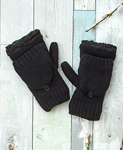 The Lakeside Collection Berber Lined Flip-Top Mittens