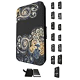 452 - doctor who tardis van gogh canvas Design Fashion Trend Credit Card Holder Purse Wallet Book Style Tpu Leather Flip Pouch Case Samsung Galaxy S3 i9300