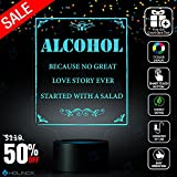 Alcohol, Lighting Decor Gadget Lamp, Best Christmas Gift, Nightlight Decoration lamp, 7 Color Mode, Awesome gifts(MT272)