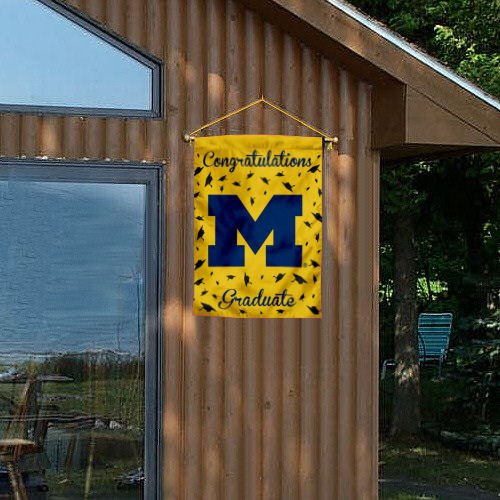 Michigan Wolverines Graduation Gift Banner Flag College Flags and Banners Co