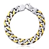 EZcapes Mens Bracelets Stainless Steel Bracelets for Men Cuban Curb Link Chain Bracelets