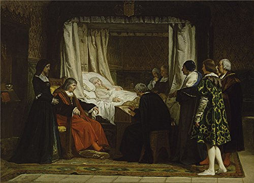 'Rosales Gallina Eduardo Queen Isabel La Catolica Dictating Her Last Will And Testament 1864 ' Oil Painting, 30 X 42 Inch / 76 X 106 Cm ,printed On Perfect Effect (Catolico Y Halloween)