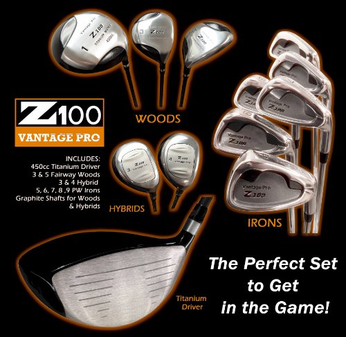 Vantage Golf Clubs – Z100 Vantage Pro Mens Complete 11-Piece Golf Clubs Set (Right Handed), Outdoor Stuffs