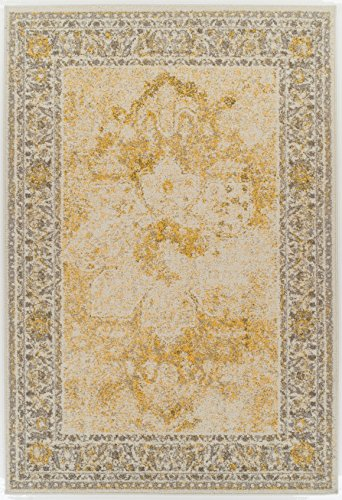 A.S Quality Rugs Large Distressed Rugs for Living Room 8×11 Yellow Rug For Dining Rooms 8×10 Clearance Rugs Prime