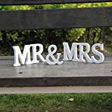 Luxbody(TM) Wedding Reception Sign Wooden Letters MrMrs Table Centrepiece Decoration