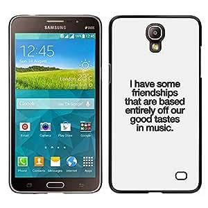 Caucho caso de Shell duro de la cubierta de accesorios de protección BY RAYDREAMMM - Samsung Galaxy Mega 2 - Buen Gusto Música Cita Amistad Amor