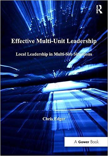 Effective Multi-Unit Leadership: Local Leadership in Multi-Site Situations