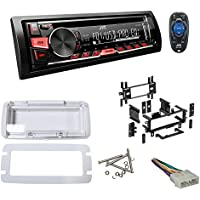 1987-1995 JEEP WRANGLER YJ JVC KD-R370 Stereo/CD Player Receiver + Splash Guard