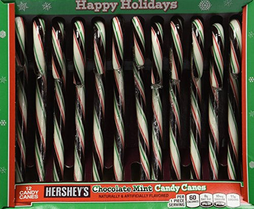 Hershey's Candy Canes - Chocolate Mint - 12 Count