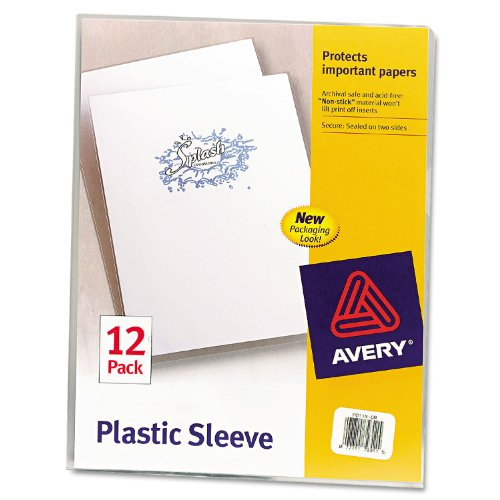 Avery® Clear Polypropylene Plastic Sleeves (Avery Plastic Sleeves)