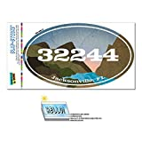 Graphics and More Zip Code 32244 Jacksonville, FL Euro Oval Window Bumper Glossy Laminated Sticker - River Rocks