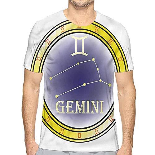 t Shirt Printer Zodiac Gemini,Circle and Signs Junior t Shirt XXL