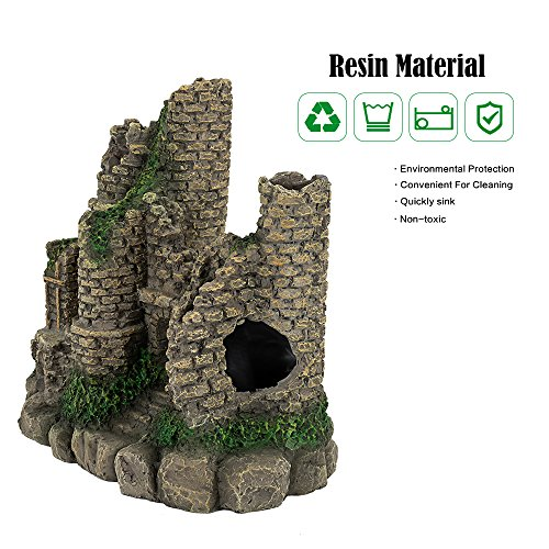 Hygger Aquarium Ornaments Fish Tank Decorations Castle Cave Resin Roman Column, Non-toxic Durable Resin Material, Safe for Fish by Hygger (Image #4)