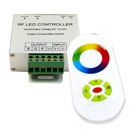 (Genssi Touch RF Radio Wireless RGB LED Strip Light Controller 180W)