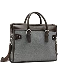 Handbag Luggage Laptop Bag - Briefcase Fits 13 to 14 Inch Notebook (Brown)