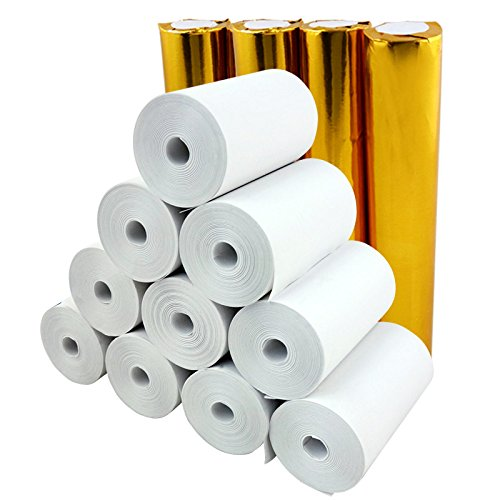 2 1/4 'Papel Térmico x 30 'sin núcleo (20 rollos) de papel 57x30 papel de caja registradora máquina móvil