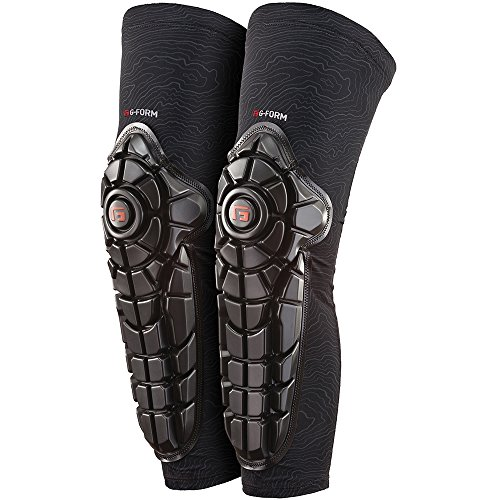 G-Form Elite Knee-Shin Guards(1 Pair), Black Topo, Youth S/M