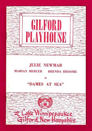 """Julie Newmar """"DAMES AT SEA"""" Marian Mercer / Alan Cass 1970 Gilford, New Hampshire Playbill"""